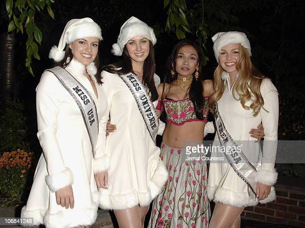 Chelsea Cooley Miss USA 2005 Natalia Glebova Miss Universe 2005 Sanjana Jon and Allie LaForce Miss Teen USA 2005
