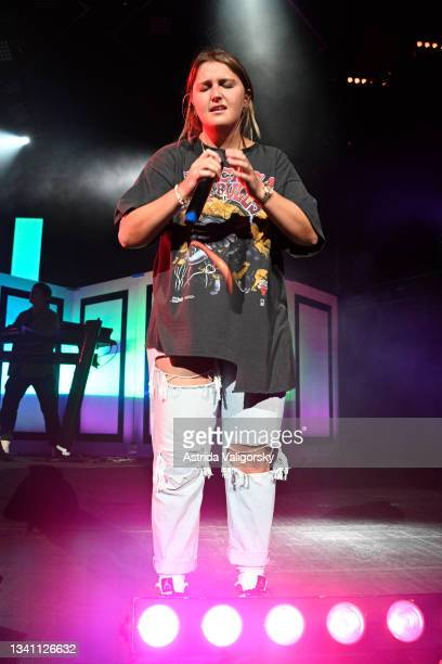 Chelsea Cutler performs her set during the 'Stay Next to Me' tour with Quinn XCII at Radio City Music Hall on September 17, 2021 in New York City.