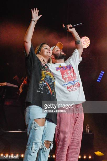 Chelsea Cutler performs with Quinn XCII during the 'Stay Next to Me' tour with Quinn XCII at Radio City Music Hall on September 17, 2021 in New York...