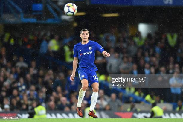 Chelsea Defender Andreas Christensen during the Premier League match between Chelsea and Manchester City at Stamford Bridge London England on 30 Sept...