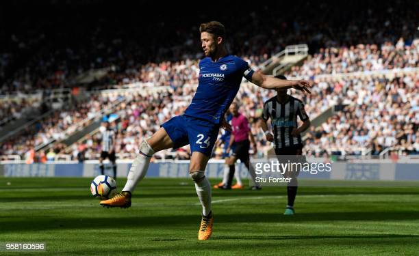 Chelsea defender Gary Cahill in action during the Premier League match between Newcastle United and Chelsea at St James Park on May 13 2018 in...