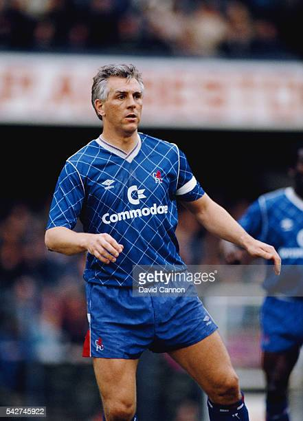 Chelsea defender Graham Roberts in action during a League Division Two match against Leeds United at Stamford Bridge on April 22 1989 in London...