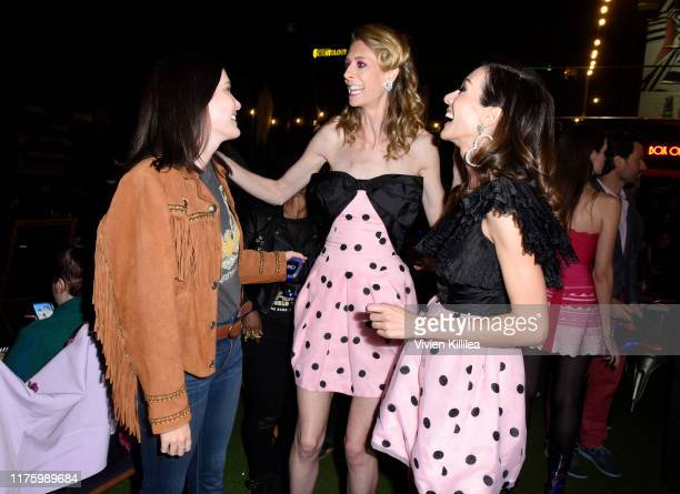 Chelsea Edmundson Dawn Luebbe and Jocelyn DeBoer attend LA Special Screening Of IFC Midnight's GREENER GRASS at The Montalban Theater on October 14...