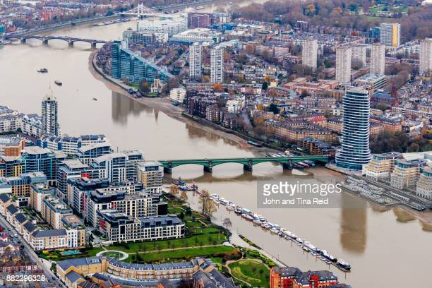 chelsea embankment - battersea stock pictures, royalty-free photos & images