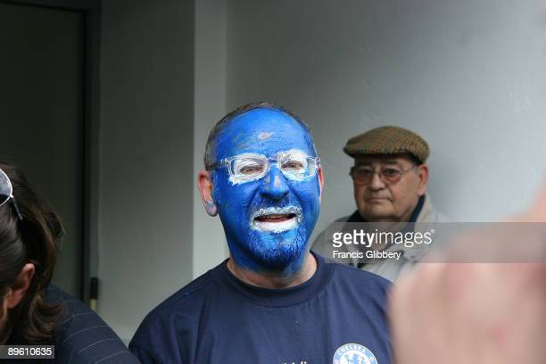Chelsea fans before the FA Barclays Premiership match between Chelsea and Charlton Athletic held on May 7 2005 at Stamford Bridge in London Chelsea...
