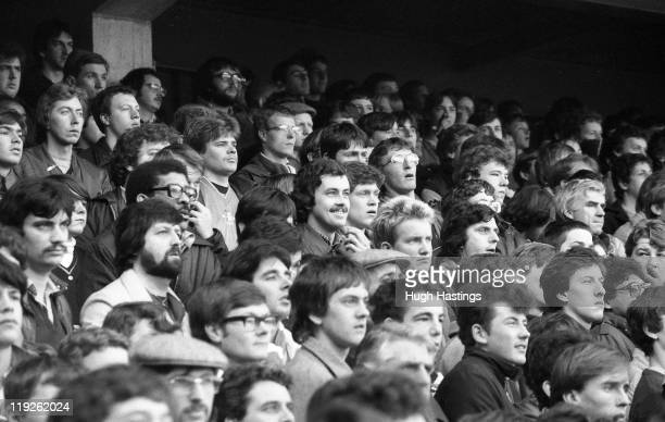 Chelsea Fans during the English Division 2 match against Queens Park Rangers on December 27 1982 at Loftus Road in LondonEngland Chelsea won the...