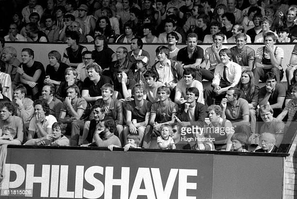Chelsea fans in the Abbey Stadium