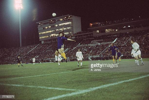 Chelsea FC and Real Madrid in play during the 197071 UEFA Cup Winners' Cup Final replay at Karaiskakis Stadium Piraeus Greece 21st May 1971 Chelsea...