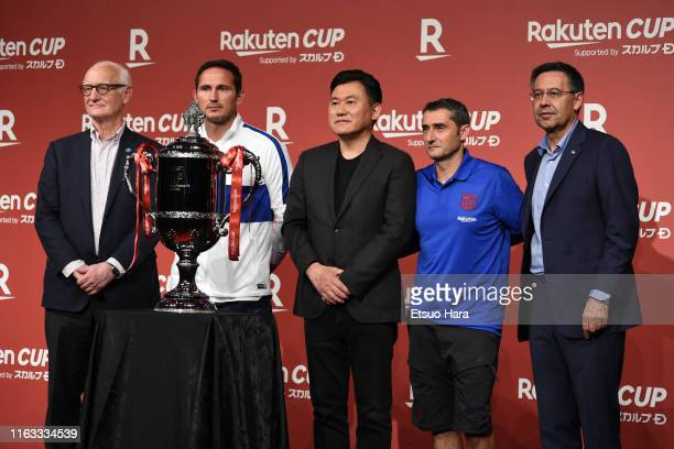 Chelsea FC chairman Bruce BuckChelsea FC manager Frank LampardRakuten president Hiroshi MikitaniFC Barcelona head coach Ernesto Valverde and FC...