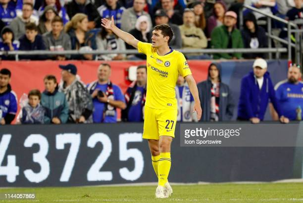 Chelsea FC defender Andreas Christensen protests a call during the Final Whistle on Hate match between the New England Revolution and Chelsea...