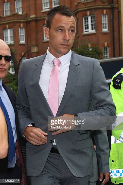 Chelsea FC football player John Terry arrives at Westminster Magistrates court to stand trial for allegedly racially abusing Anton Ferdinand on July...