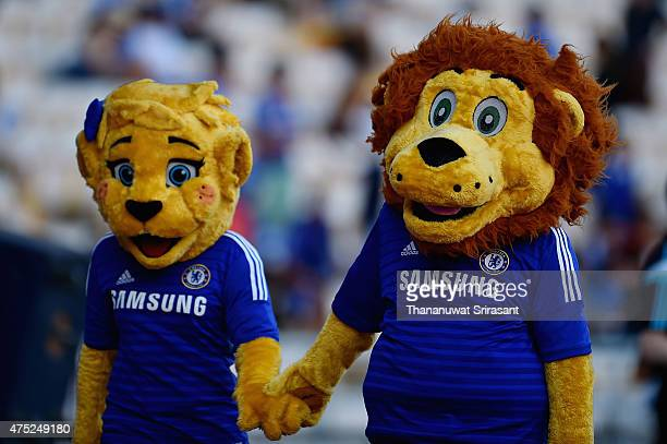 Chelsea FC mascot walks during the international friendly match between Thailand AllStars and Chelsea FC at Rajamangala Stadium on May 30 2015 in...