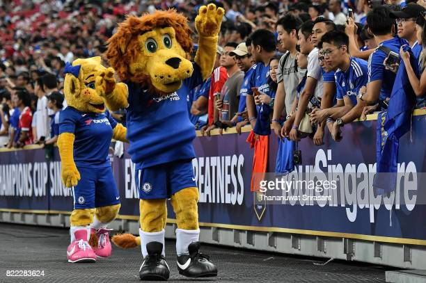 Chelsea FC team mascot walks during the International Champions Cup match between Chelsea FC and FC Bayern Munich at National Stadium on July 25 2017...