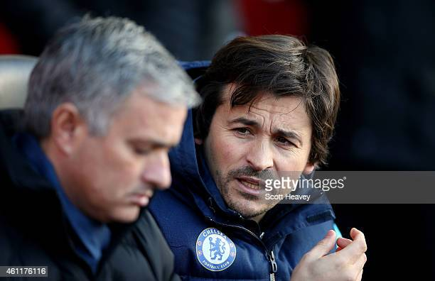 Chelsea first team assistant coach Rui Faria during the Premier League match between Southampton and Chelsea at St Mary's Stadium on December 28 2014...