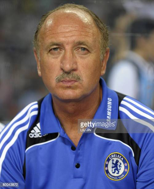 Chelsea football club manager Luiz Felipe Scolari is seen before the Chelsea Guangzhou China Challenge Game at the Guangdong Olympic Stadium in...