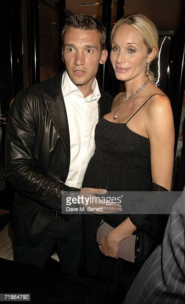 Chelsea football player Andriy Shevchenko and his wife Kristen Pazik attend the book launch party for 'Sheva' a biography by footballer Andriy...