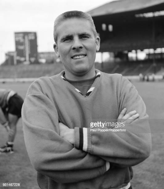 Chelsea footballer Wally Bellett at Stamford Bridge in London, circa 1958.