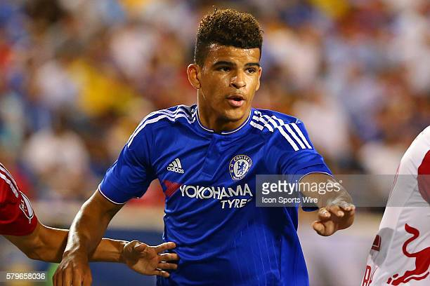 Chelsea forward Dominic Solanke during the second half of the International Champions Cup Game between the New York Red Bulls and Chelsea played at...