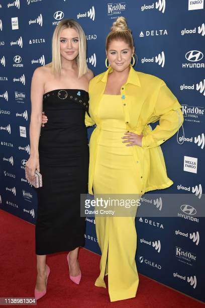 Chelsea Frei and Meghan Trainor attend the 30th Annual GLAAD Media Awards at Beverly Hills Hotel on March 28 2019 in Beverly Hills California