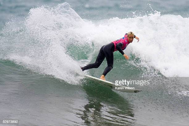 Chelsea Georgeson of the Gold Coast Australia in action during the Roxy Jam UK Presented by Samsung Association of Surfing Professionals Women's...