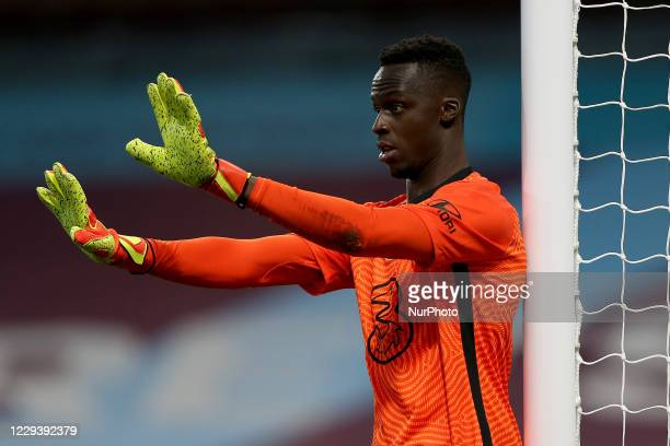 Chelsea goalkeeper douard Mendy during the Premier League match between Burnley and Chelsea at Turf Moor Burnley on Saturday 31st October 2020