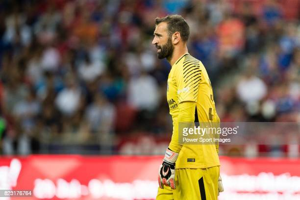 Chelsea Goalkeeper Eduardo Carvalho in action during the International Champions Cup match between Chelsea FC and FC Bayern Munich at National...