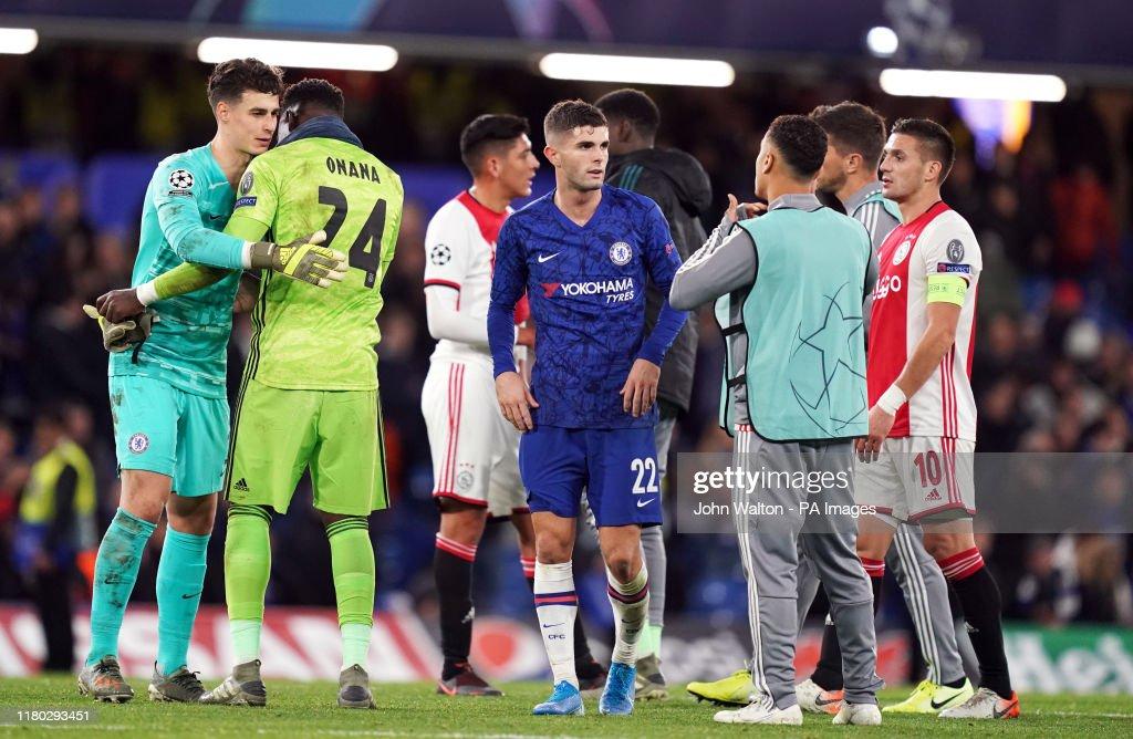 Chelsea goalkeeper Kepa Arrizabalaga and Ajax goalkeeper Andre ...