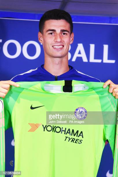 Chelsea goalkeeper Kepa Arrizabalaga during the press conference at Stamford Bridge London
