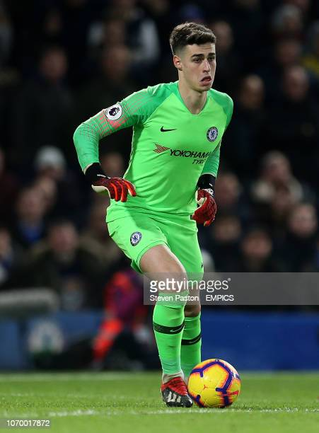 Chelsea goalkeeper Kepa Arrizabalaga in action Chelsea v Manchester City Premier League Stamford Bridge