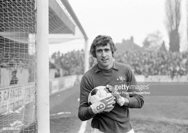 Chelsea goalkeeper Peter Bonetti before their match against Oxford United at the Manor Ground in Oxford 11th February 1976 The match ended in a 11...
