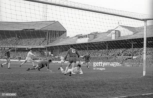 Chelsea goalkeeper Peter Bonetti during the match between Chelsea and Leeds United on November 6 1965 at Stamford Bridge stadium at London England