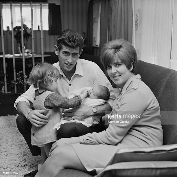 Chelsea goalkeeper Peter Bonetti with his wife Francis and two daughters Suzanne and sixdayold Kim UK 2nd October 1967