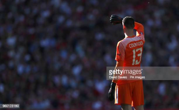 Chelsea goalkeeper Thibaut Courtois during the Emirates FA Cup Final at Wembley Stadium London