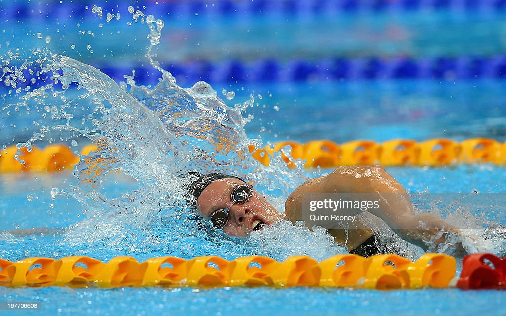 Chelsea Gubecka of Australia competes in the Women's 1500 Metre Freestyle Final during day three of the Australian Swimming Championships at SA Aquatic and Leisure Centre on April 28, 2013 in Adelaide, Australia.
