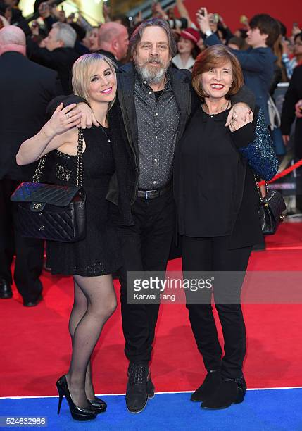 Chelsea Hamill Mark Hamill and Marilou York arrive for the European film premiere of Captain America Civil War at Vue Westfield on April 26 2016 in...