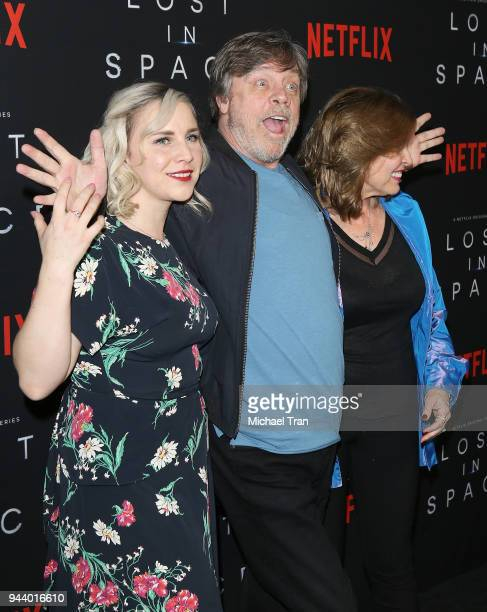 Chelsea Hamill Mark Hamill and Marilou York arrive to the Los Angeles premiere of Netflix's 'Lost In Space' Season 1 held at The Cinerama Dome on...