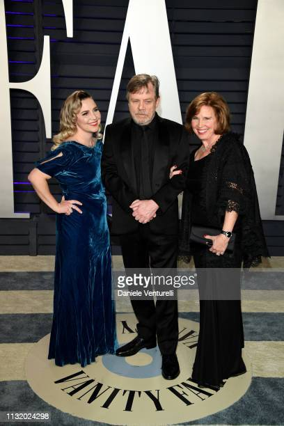 Chelsea Hamill Mark Hamill and Marilou York attend 2019 Vanity Fair Oscar Party Hosted By Radhika Jones at Wallis Annenberg Center for the Performing...