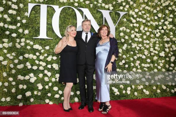 Chelsea Hamill, Mark Hamill and Marilou York attend the 2017 Tony Awards at Radio City Music Hall on June 11, 2017 in New York City.