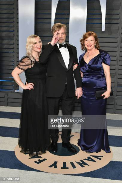 Chelsea Hamill, Mark Hamill and Marilou York attend the 2018 Vanity Fair Oscar Party hosted by Radhika Jones at Wallis Annenberg Center for the...