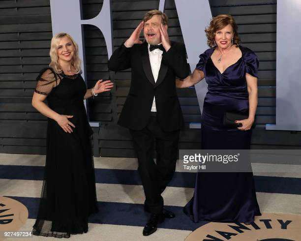 Chelsea Hamill, Mark Hamill, and Marilou York attend the 2018 Vanity Fair Oscar Party hosted by Radhika Jones at the Wallis Annenberg Center for the...