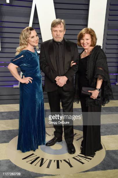 Chelsea Hamill, Mark Hamill, and Marilou York attend the 2019 Vanity Fair Oscar Party hosted by Radhika Jones at Wallis Annenberg Center for the...