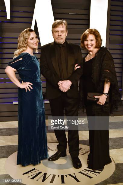 Chelsea Hamill Mark Hamill and Marilou York attend the 2019 Vanity Fair Oscar Party at Wallis Annenberg Center for the Performing Arts on February 24...