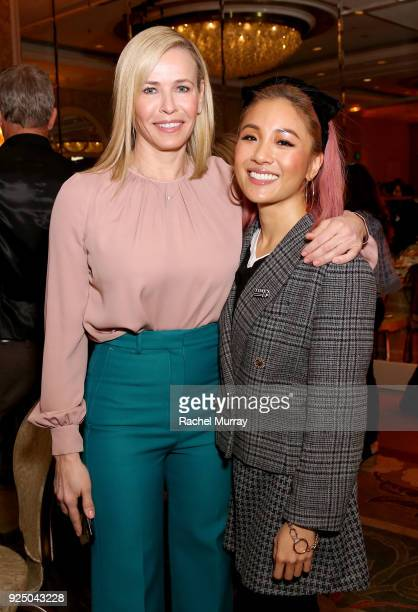 Chelsea Handler and Constance Wu attend EMILY's List's Resist Run Win PreOscars Brunch on February 27 2018 in Los Angeles California