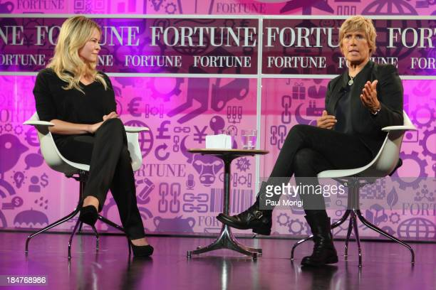 Chelsea Handler and long-distance swimmer Diana Nyad speak onstage at the FORTUNE Most Powerful Women Summit on October 16, 2013 in Washington, DC.