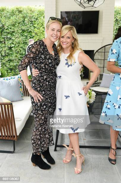 Chelsea Handler and Reese Witherspoon attend NET-A-PORTER x Draper James Event on June 6, 2017 in Beverly Hills, California.