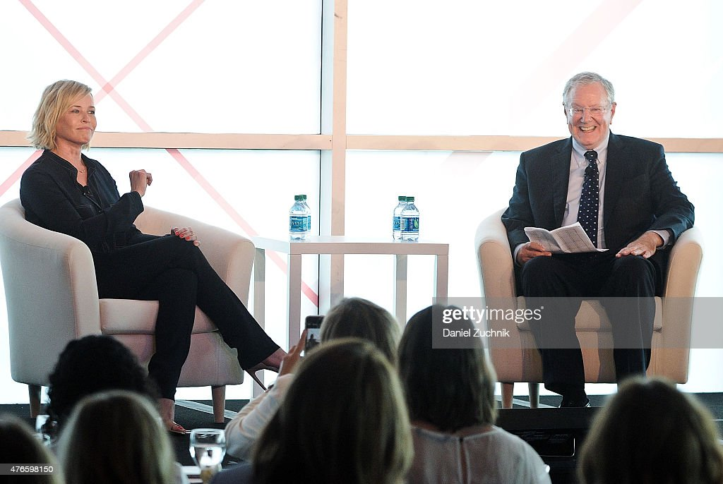 Chelsea Handler and Steve Forbes attend the 2015 Forbes Women's Summit: Transforming the Rules of Engagement at Pier 60 on June 10, 2015 in New York City.