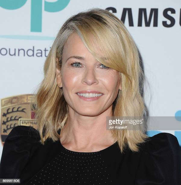 Chelsea Handler arrives at Goldie's Love In For Kids at Ron Burkle's Green Acres Estate on November 3 2017 in Beverly Hills California