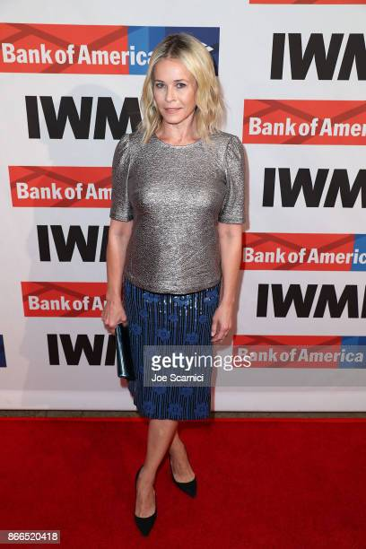 Chelsea Handler arrives at the International Women's Media Foundation 2017 Courage In Journalism Awards at NeueHouse Hollywood on October 25 2017 in...