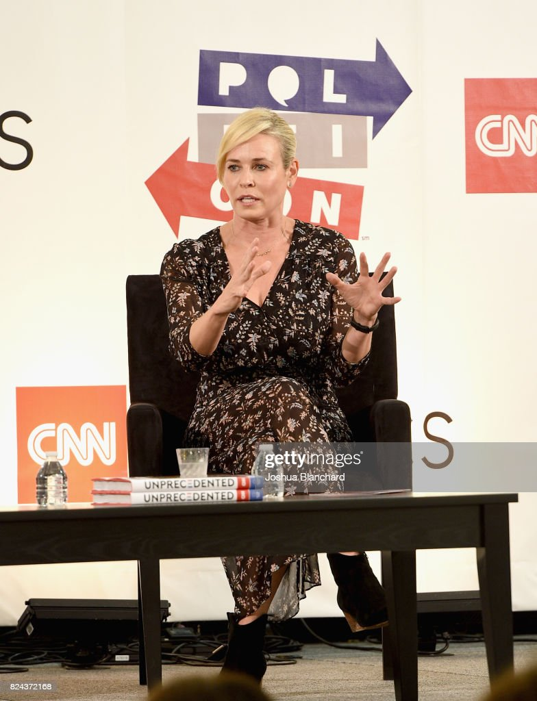 Chelsea Handler at the 'CNN: Politics on Tap: Special Edition' panel during Politicon at Pasadena Convention Center on July 29, 2017 in Pasadena, California.
