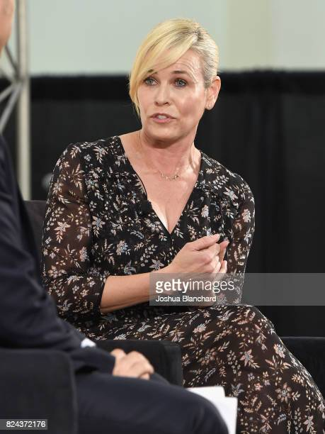 Chelsea Handler at the 'CNN Politics on Tap Special Edition' panel during Politicon at Pasadena Convention Center on July 29 2017 in Pasadena...